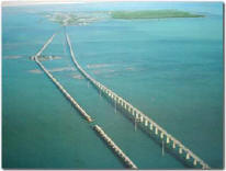 Old and new 7 mile bridges in the Florida Keys